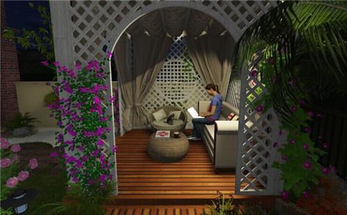 孝感庭院景观绿化设计