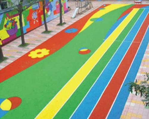 貴陽幼兒園塑膠地面
