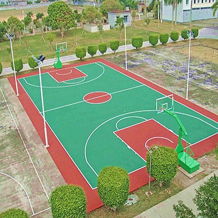 貴州塑膠籃球場施工