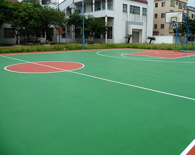 貴陽塑膠籃球場施工