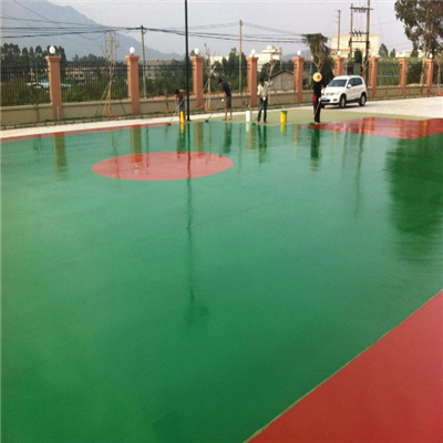 硅PU球场材料施工