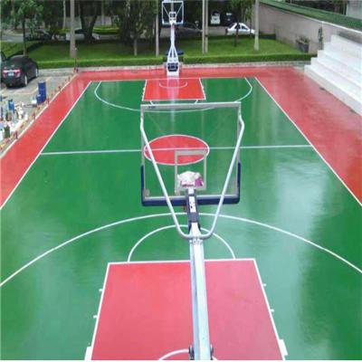 貴陽水性矽PU籃球場