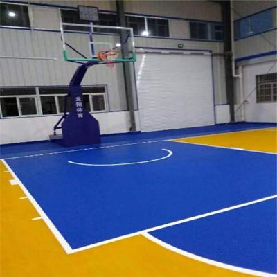 环保型型硅PU篮球场施工