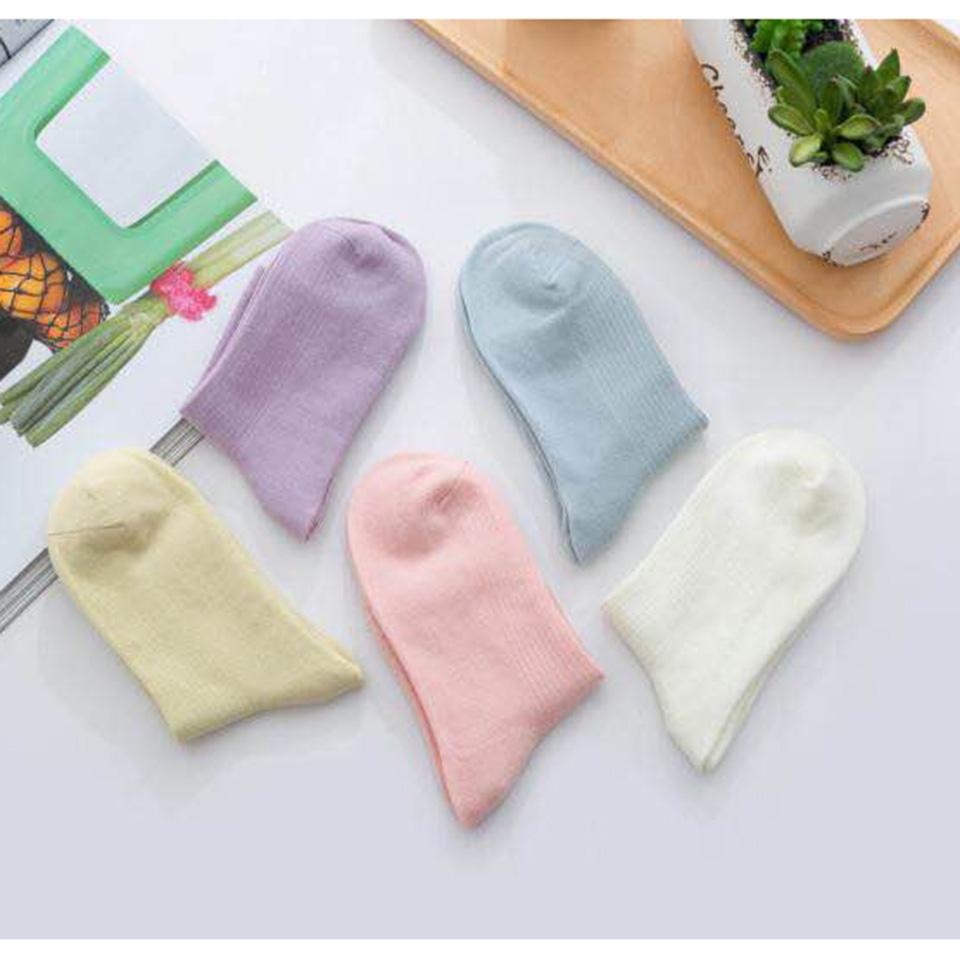 糖果复古色棉袜