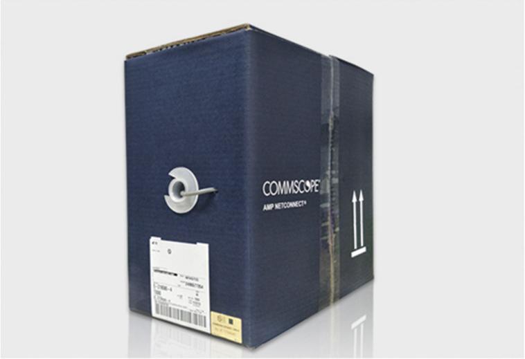 安普超五类非屏蔽网线蓝箱