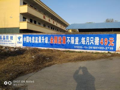 石家庄通讯墙体广告