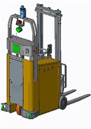 激光导航平衡重AGV