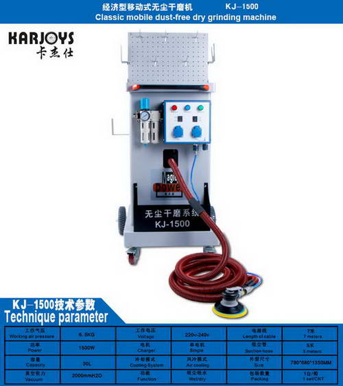 Classic mobile dust-free grinding machine KJ-1500