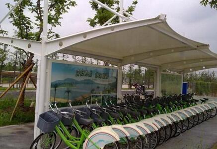 自行车车棚膜结构