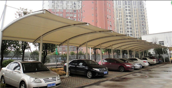 膜结构汽车车棚