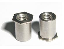 压铆螺母柱通孔