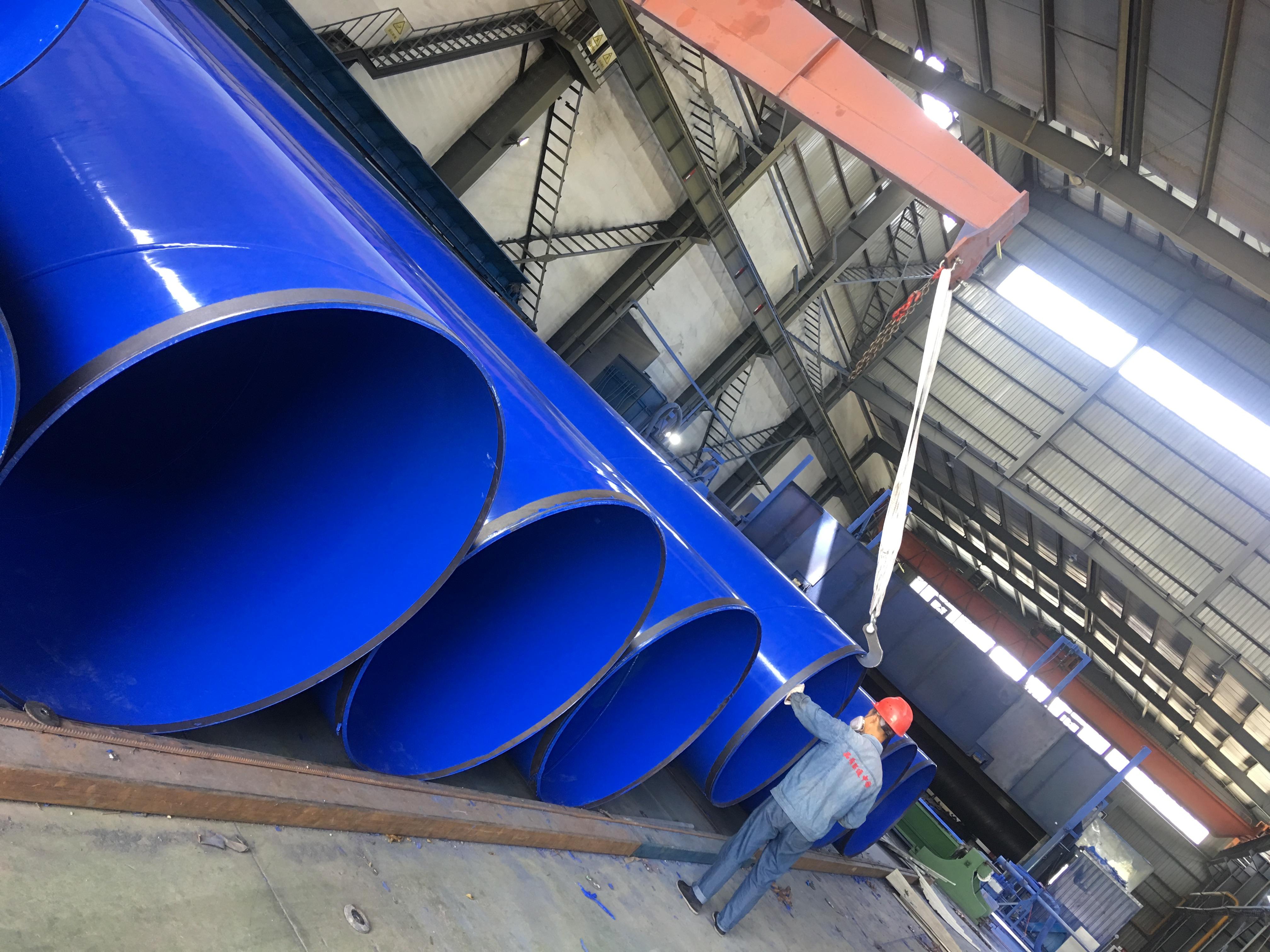 12米大口径涂塑钢管