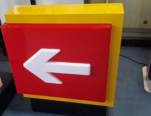 加油站出入口灯箱制作