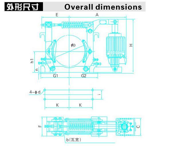 YWZ10系列电力液压鼓式制动器