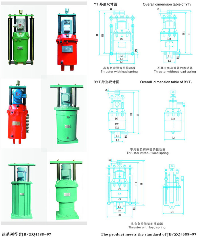 YT1係列電力液壓推動器