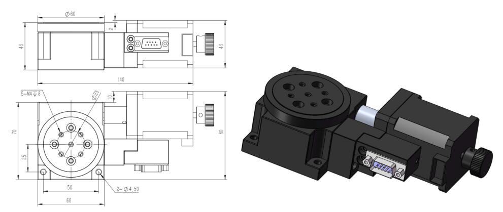 HR60- 45T 电动对位平台