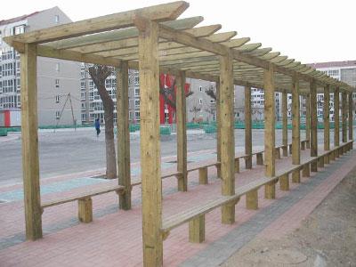 石家庄防腐木廊架
