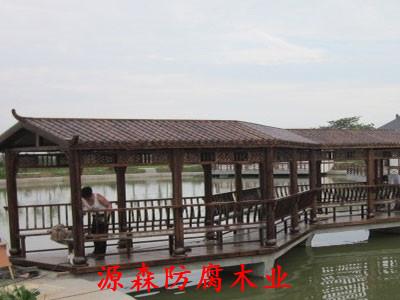 石家庄防腐木长廊