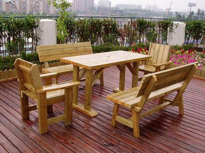 河北防腐木桌椅厂家