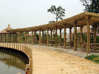 河北防腐木长廊