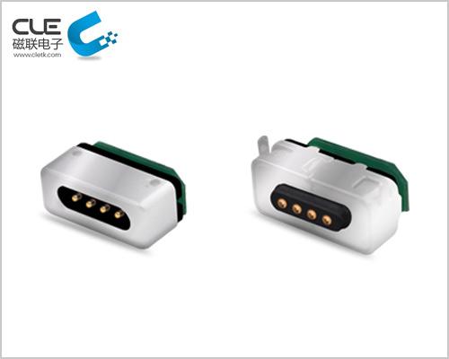 运动设备磁性充电连接器
