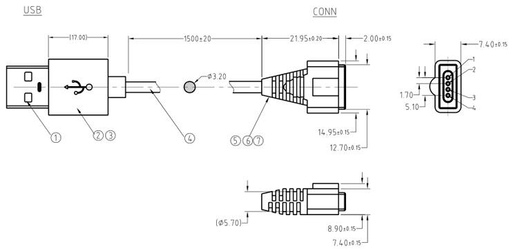 磁吸连接线