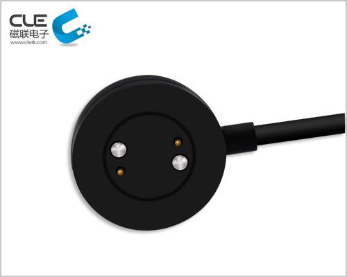圆形pogopin充电线磁吸式数据线