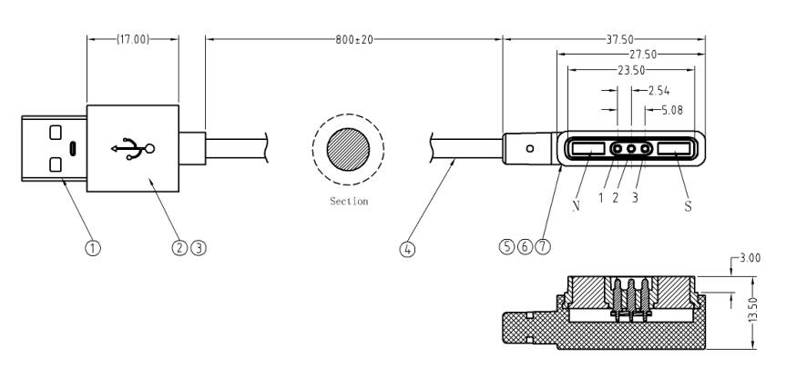 磁吸式充电器规格