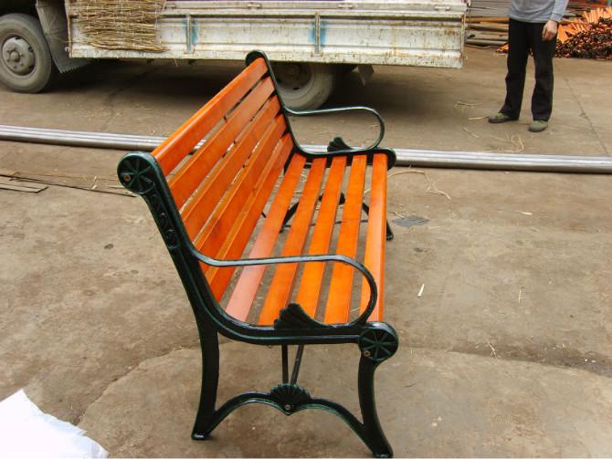 钢木休闲椅