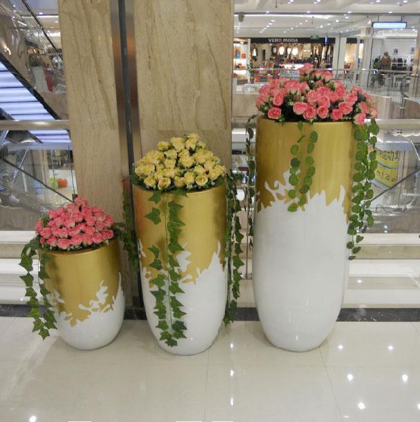 商場玻璃鋼花盆