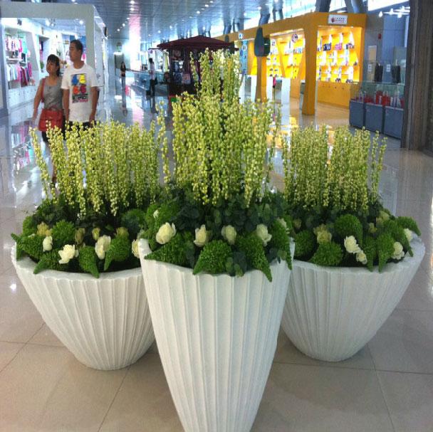 商场玻璃钢花盆