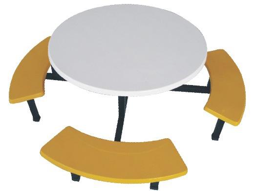 圆形玻璃钢餐桌椅