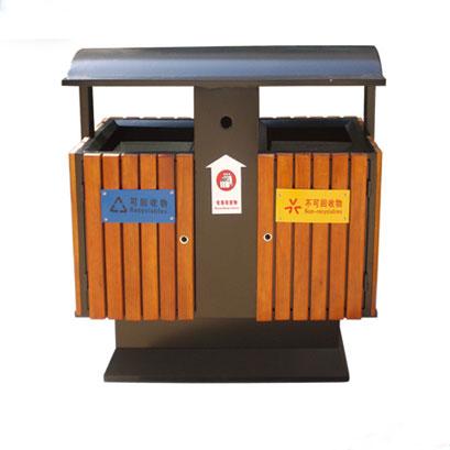 钢木分类垃圾桶