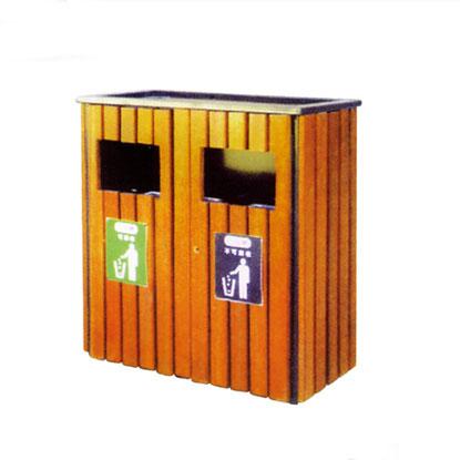 园区钢木垃圾桶