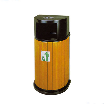 钢木垃圾桶