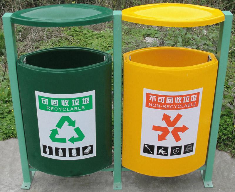 户外分类环保垃圾桶