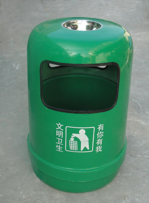圆形玻璃钢果皮桶