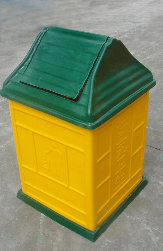 摇盖户外垃圾桶