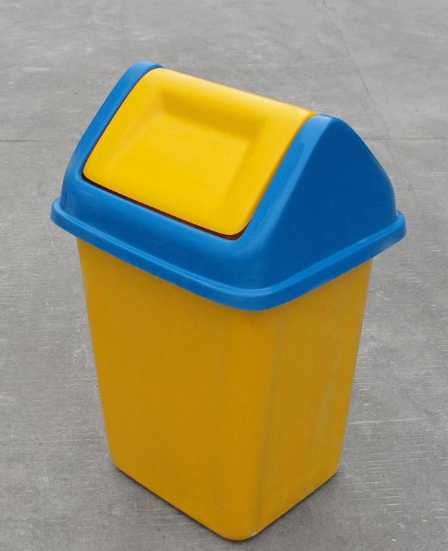 摇盖玻璃钢垃圾桶