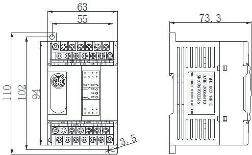 信捷PLC XC1-16RT-EC外观