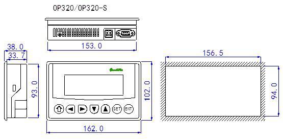 信捷文本显示器OP320外观