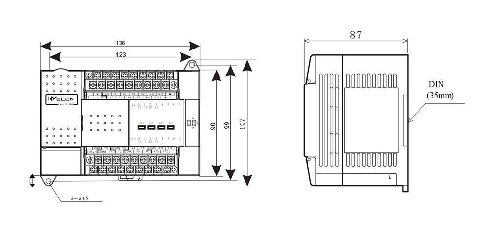 维控PLC LX3V-1208MRT外观
