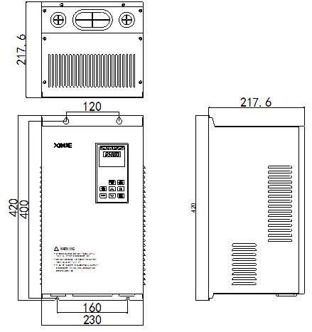 信捷变频器VH3-4015外观