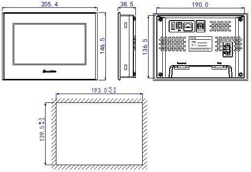信捷触摸屏7英寸TG765S-XT