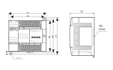 维控LX3V-1412MR-A(D)可编程控制器PLC