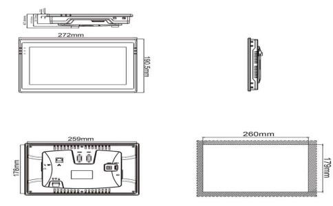 维控触摸屏10.2寸真彩人机界面LEVI102E