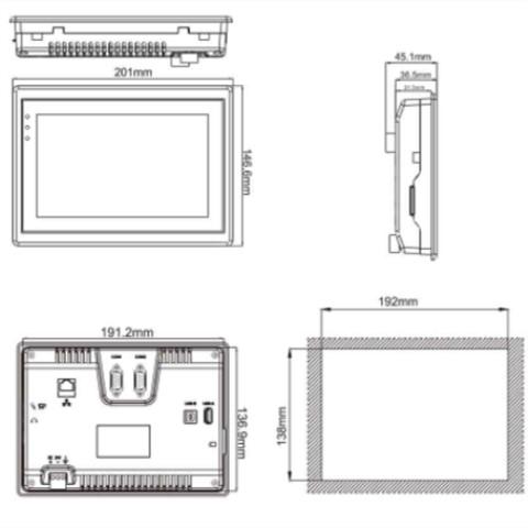 维控触摸屏高端界面PI3000系列7寸