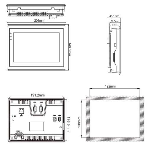 维控触摸屏PI系7寸高端人机界面
