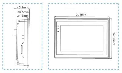 维控触摸屏PI系列7寸人机界面PI9070