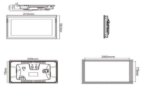 维控触摸屏PI系列10.2寸人机界面